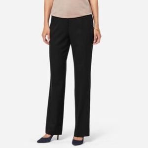Ted  Baker London Black Stretch Wool Dress Pants
